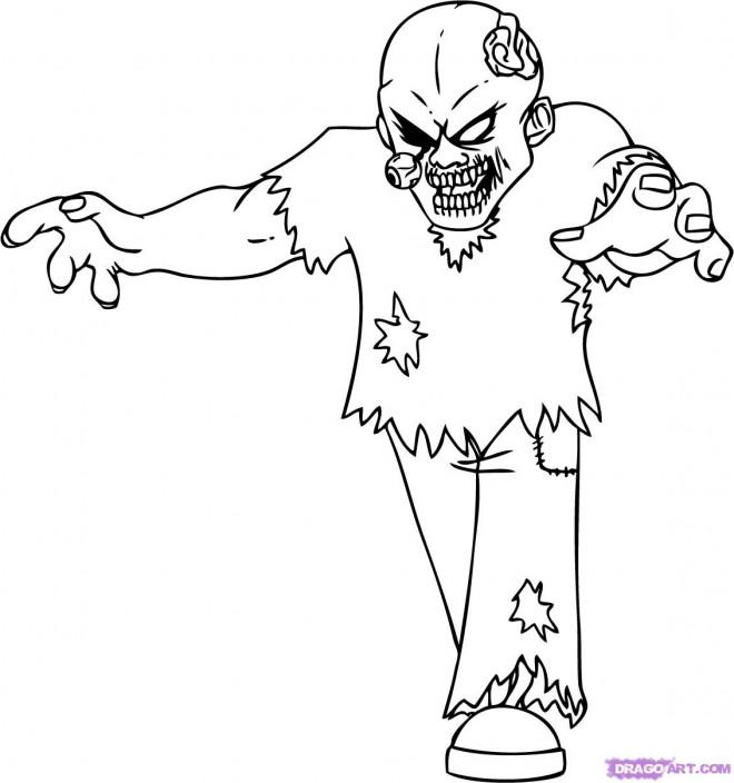 Coloriage et dessins gratuits Zombie dessin adulte à imprimer