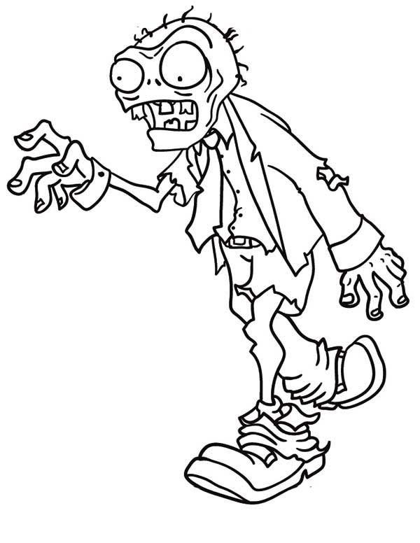 Coloriage zombie dessin de halloween dessin gratuit imprimer - Zombie dessin ...