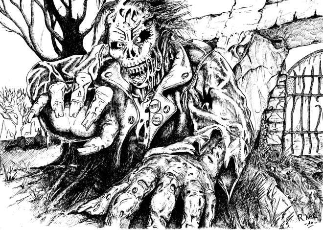 Coloriage et dessins gratuits Zombie en couleur à imprimer