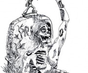 Coloriage et dessins gratuit Zombie et Cowboy américain à imprimer