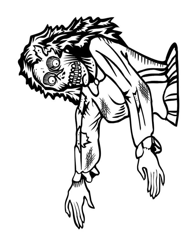 Coloriage et dessins gratuits Zombie femme à imprimer