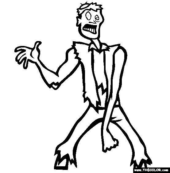 Coloriage et dessins gratuits Zombie humoristique à imprimer