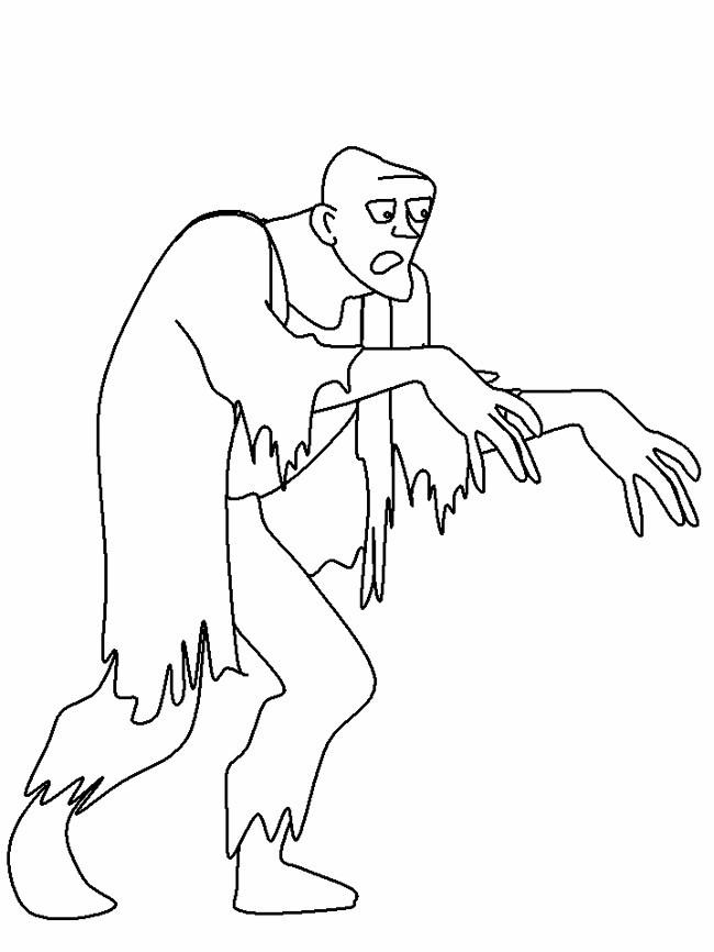 Coloriage et dessins gratuits Zombie perdu à imprimer