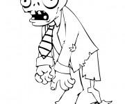 Coloriage et dessins gratuit Zombie qui fait peur à imprimer