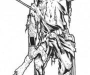 Coloriage et dessins gratuit Zombie réaliste à imprimer