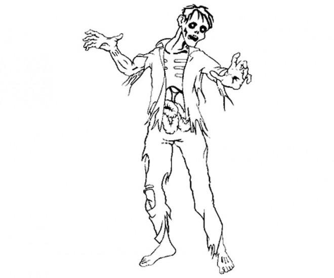Coloriage et dessins gratuits Zombie rigide à imprimer