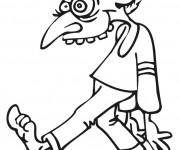 Coloriage et dessins gratuit Zombie rigolo à imprimer