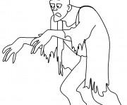 Coloriage et dessins gratuit Zombie tenue à imprimer