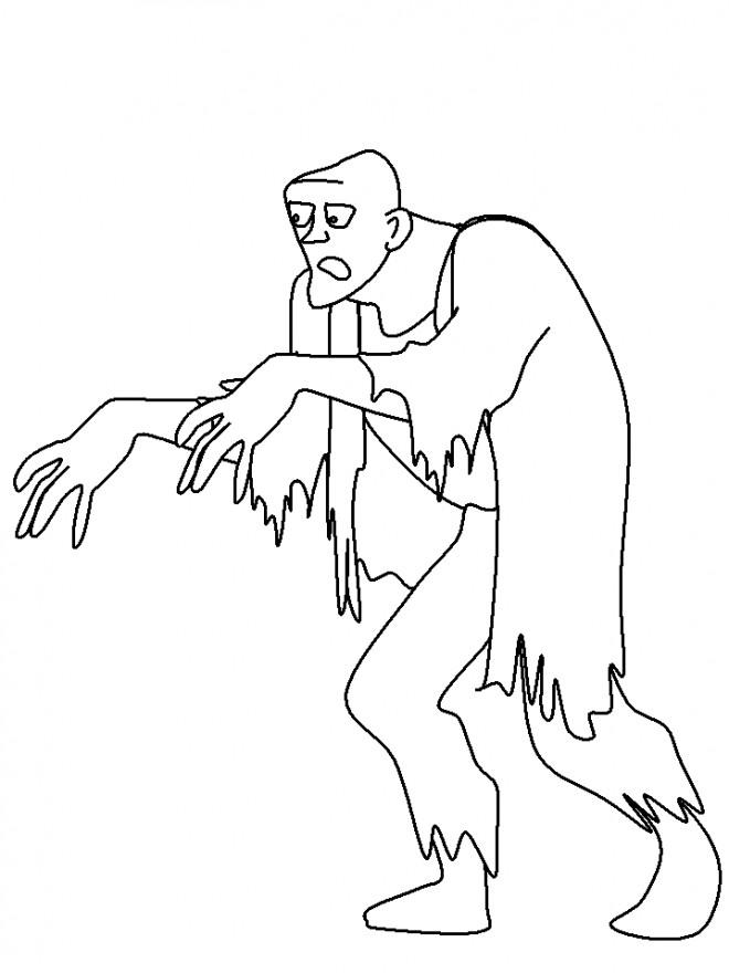 Coloriage et dessins gratuits Zombie tenue à imprimer