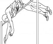 Coloriage et dessins gratuit Athlète de Saut à la Perche à imprimer