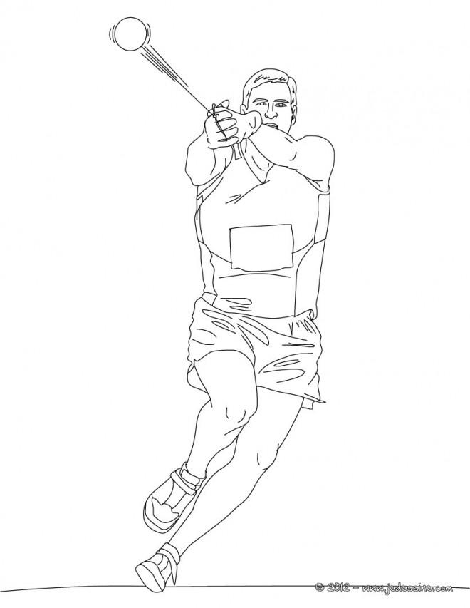 Coloriage et dessins gratuits Athlète Olympique  couleur à imprimer