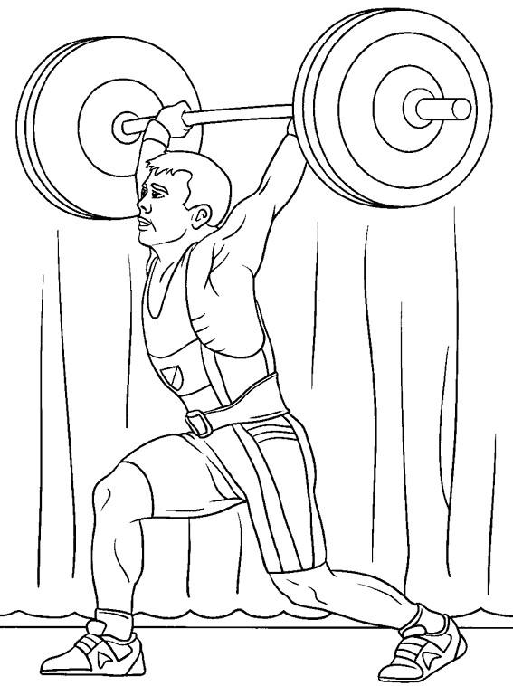 Coloriage et dessins gratuits Athlète Olympique d'haltérophilie à imprimer