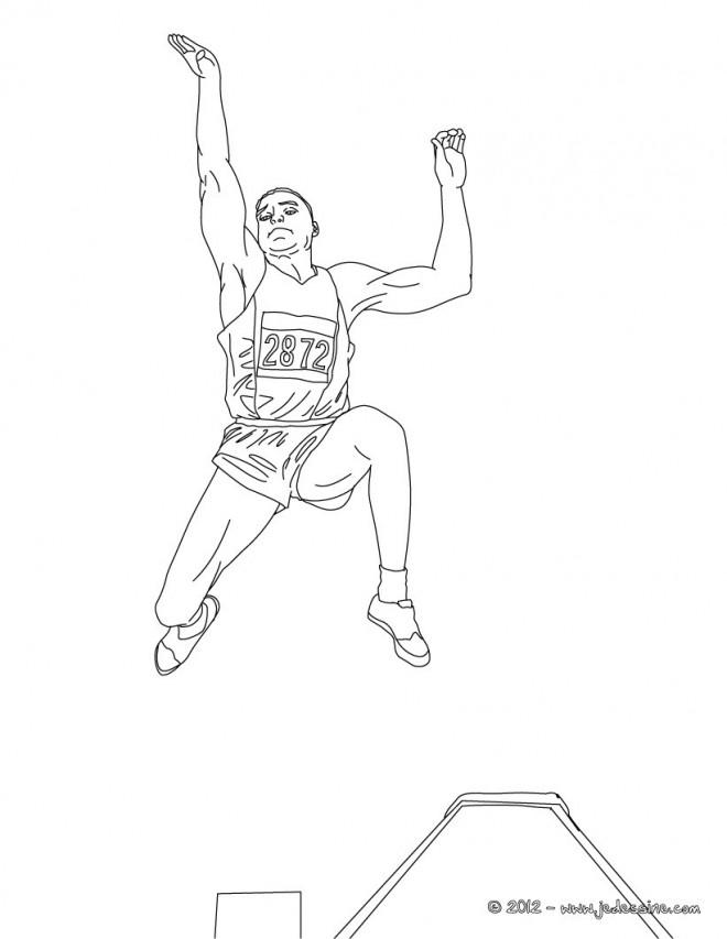 Coloriage et dessins gratuits Athlète Saut en longueur à imprimer