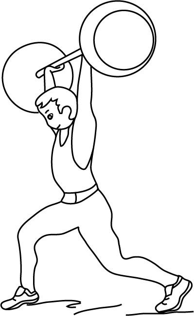 Coloriage et dessins gratuits Athlète stylisé à imprimer