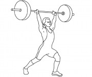 Coloriage dessin  Athletisme 7