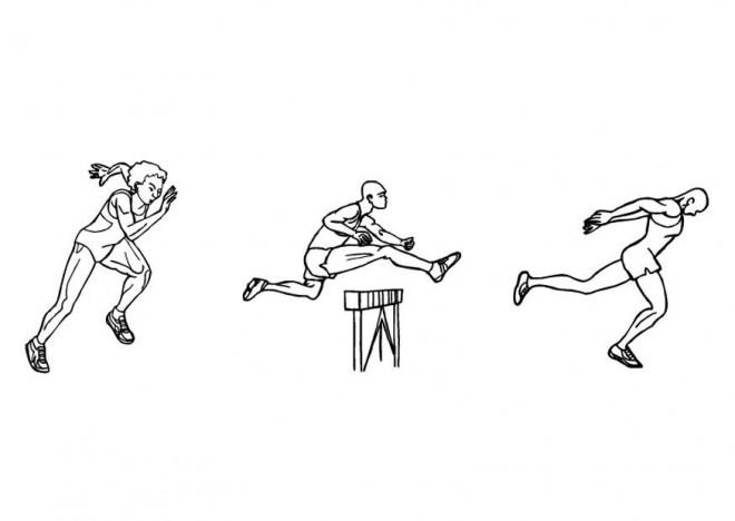 Coloriage et dessins gratuits Athlétisme à découper à imprimer