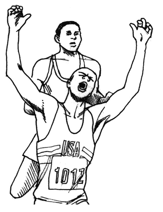 Coloriage et dessins gratuits Athlétisme au crayon à imprimer