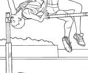 Coloriage et dessins gratuit Athlétisme couleur à imprimer