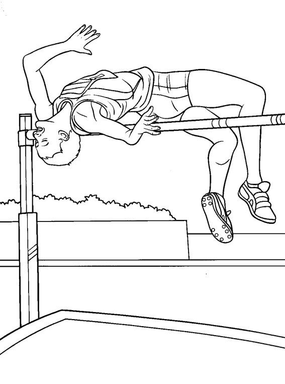 Coloriage et dessins gratuits Athlétisme couleur à imprimer