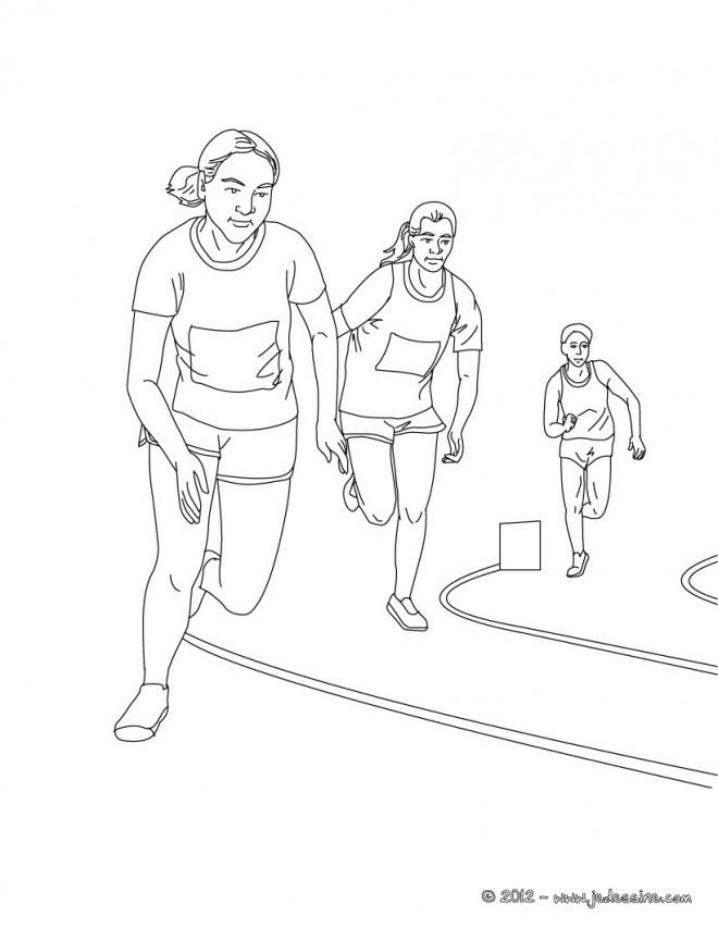 Coloriage et dessins gratuits Athlétisme course de fond à imprimer
