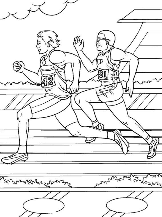 Coloriage et dessins gratuits Athlétisme course de vitesse à imprimer
