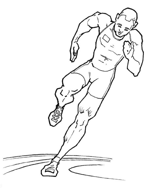 Coloriage et dessins gratuits Athlétisme et Course de Vitesse à imprimer
