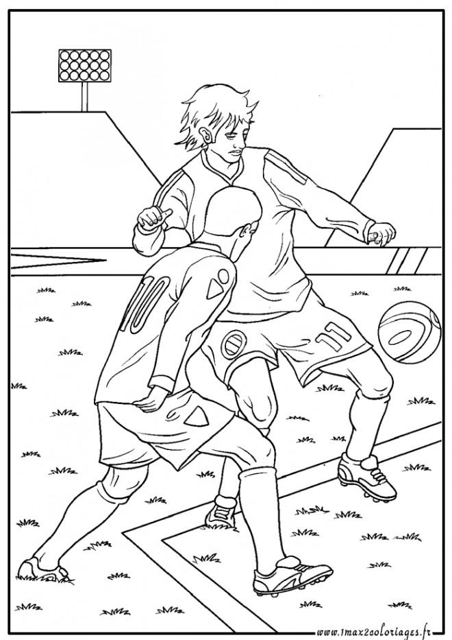 Coloriage et dessins gratuits Athlétisme Football à imprimer