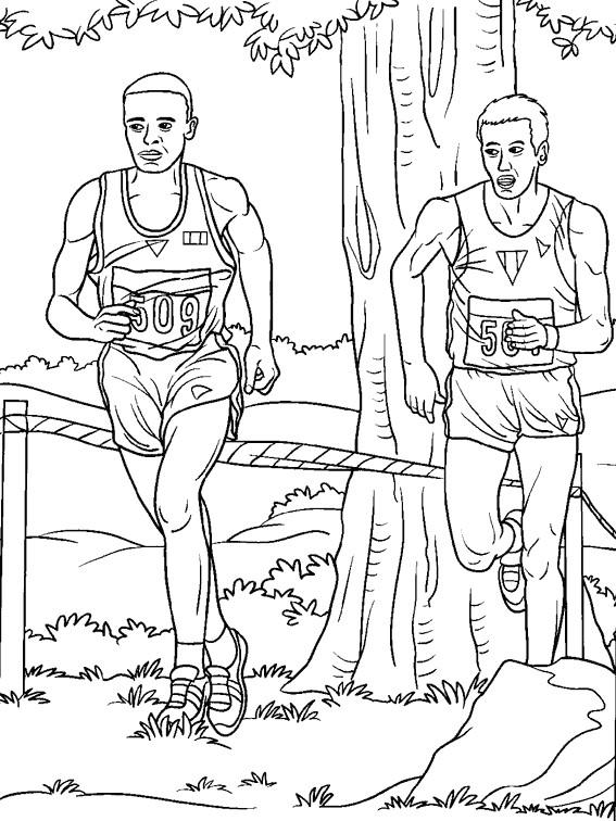 Coloriage et dessins gratuits Athlétisme Marathon à imprimer