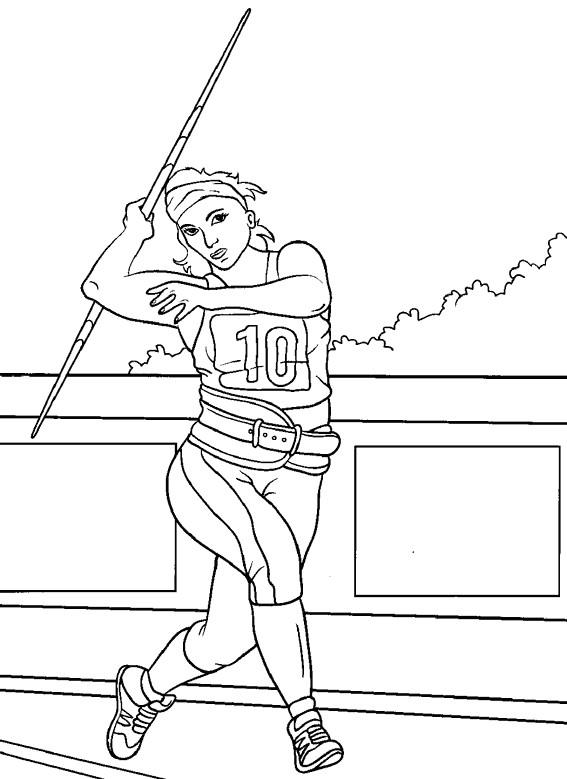 Coloriage et dessins gratuits Athlétisme maternelle à imprimer