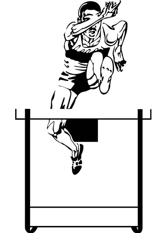 Coloriage et dessins gratuits Athlétisme silhouette à imprimer