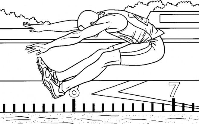 Coloriage et dessins gratuits Athlétisme Triple Saut à imprimer