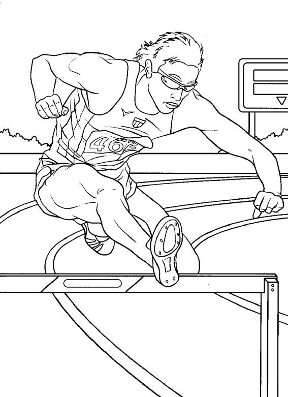 Coloriage et dessins gratuits Course Athlétisme à imprimer