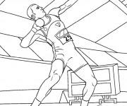 Coloriage et dessins gratuit Lancement de poids à imprimer