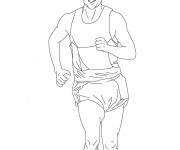 Coloriage et dessins gratuit Marche athlétique à imprimer