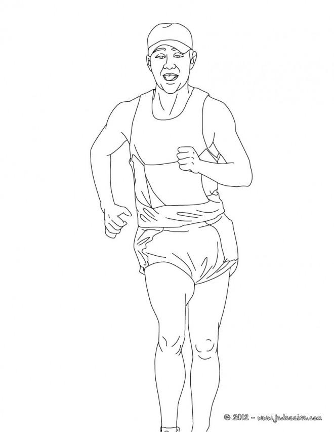 Coloriage et dessins gratuits Marche athlétique à imprimer