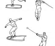 Coloriage et dessins gratuit Sports Olympiques à imprimer
