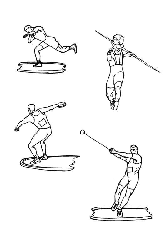 Coloriage et dessins gratuits Sports Olympiques à imprimer