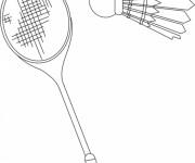 Coloriage dessin  Badminton 1