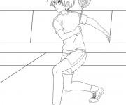 Coloriage dessin  Badminton 11