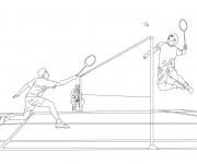 Coloriage dessin  Badminton 14