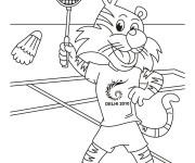 Coloriage dessin  Badminton 20