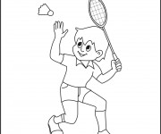 Coloriage Badminton à colorier