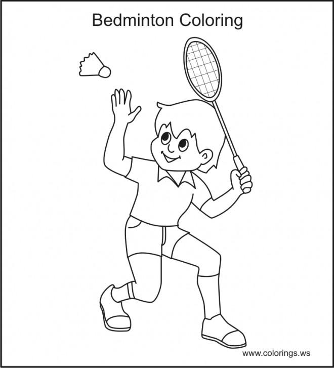 Coloriage et dessins gratuits Badminton à colorier à imprimer