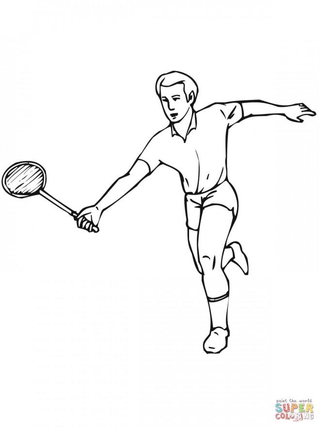 Coloriage et dessins gratuits Badminton à télécharger à imprimer
