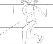 Coloriage et dessins gratuit Badminton dessin animé à imprimer