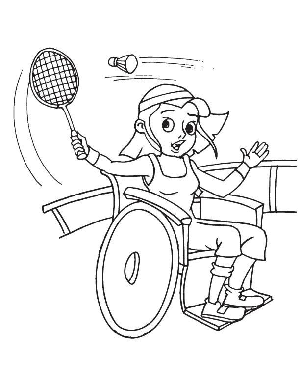 Coloriage et dessins gratuits Badminton Paralympique à imprimer