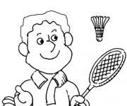 Coloriage et dessins gratuit Badminton pour enfant à imprimer