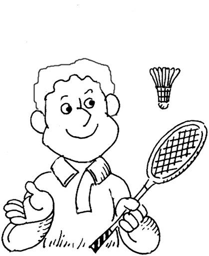 Coloriage et dessins gratuits Badminton pour enfant à imprimer
