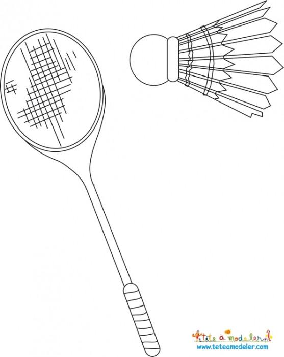 Coloriage et dessins gratuits Badminton Sport de Raquette à imprimer