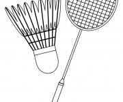 Coloriage Équipement Badminton